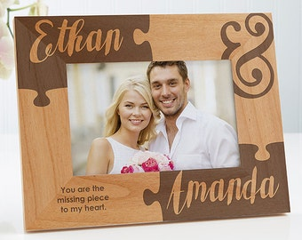 Missing Piece To My Heart Engraved Picture Frame