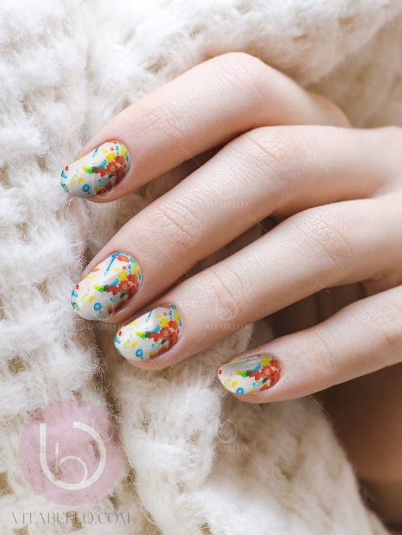 JawBreaker Nail Decal, Nail Design, Nails, Press On Nail Decal, Nail ...