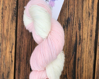 A Touch of Blush, Hand dyed yarn