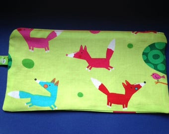 Kit foxes and polka dots cotton