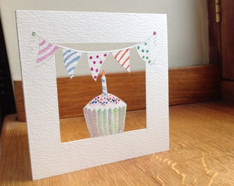 Bunting and A Cup Cake