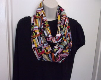 Bookworm Infinity Scarf  Perfect Gift for a Booklover
