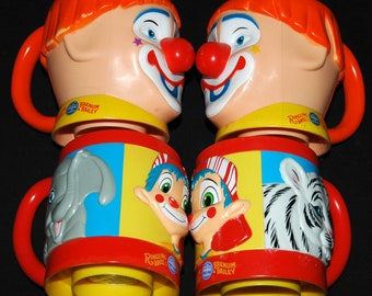 Clown Ringling Brothers & Barnum Bailey Circus 4 Cups Collectibles Vintage Rare