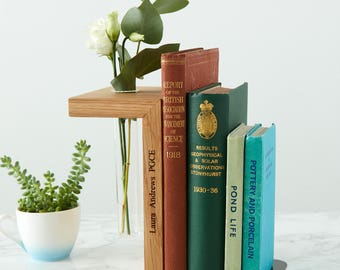 Solid Oak Personalised Bookend / Bookworm Gift / Academic Gift / Book Lover Gift / Graduation Present / Bookends