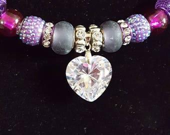 Purple Sweetheart necklace