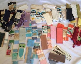 Vintage Lot of Rick Rack, Seam Binding and Hem Facing