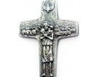 Italian Authentic Cross Pendant Worn by Pope Francis - 2 inches long