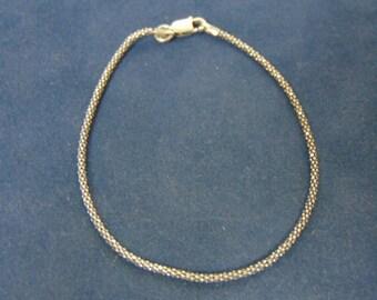 Vintage Estate Italian Sterling Silver Bracelet 1.7g #E2463