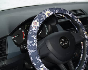 Steering Wheel Cover Car Accessories For Woman Flower Decor Gift Her