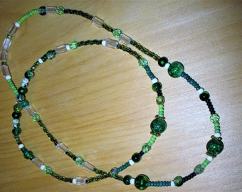 """18"""" ag doll jewelry , doll/child green jewelry, green doll necklace/childs necklace, green child's jewelry,"""