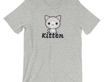 Kitten Short-Sleeve T-Shirt Multiple Colors Available DDLG, ABDL, Little, Adult Baby, Kawaii