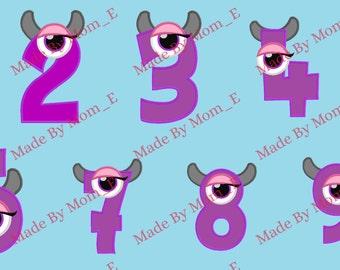 Mrs Green Eyed Monster Number Set