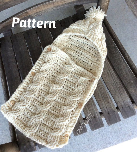 Pattern Crochet Swaddle Pattern Cable Crochet Pattern Crochet