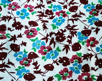 1930s Feedsack Fabric - Three Full Sacks - Each 37 x 41 Inches Of Fabric - Full 30s Grain Sack Panel Lot - Deco Floral Cotton - 47553