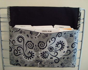 Fabric Coupon Holder Organizer /Budget Organizer Holder- Attaches to Your Shopping Cart - Magical Silvery Moon