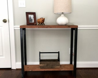 """The """"Newton"""" Console Table - Reclaimed Wood & Steel Console Table - Reclaimed Wood Console Table"""
