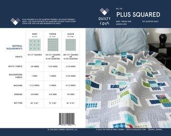 Plus Squared PDF Quilt Pattern/ Modern quilt pattern/ Plus quilt pattern/ Plus quilt/ fat quarter quilt/ modern quilt/ digital quilt pattern