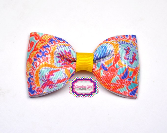 """Written in the Sun ~ 3"""" Hair Bow Tuxedo Bow ~ Lilly Inspired ~ Simple Bow ~ Boutique Bow for Babies Toddlers ~ Girls Hair Bows"""