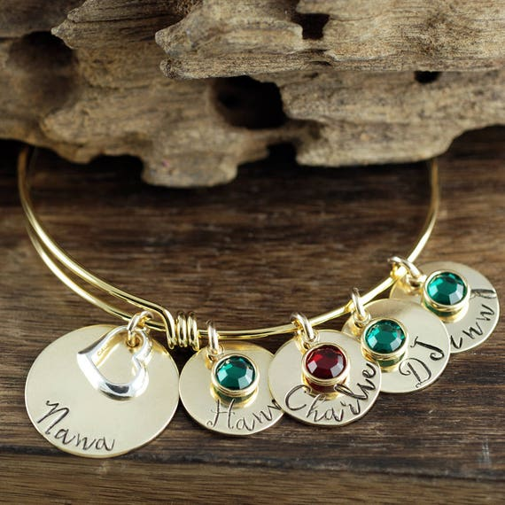 Grandmother Bracelet, Personalized Grandma Bracelet, Hand Stamped Grandma Jewelry, Personalized Jewelry, Gift for Her, Gift for Grandma