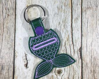 Aldi Keychain, Key Fob, Mermaid, Mermaid Tail, Quarter Keeper, Quarter Holder, Gift, Birthday Gift, Mom Gift, Aldi, Friend Gift, Present