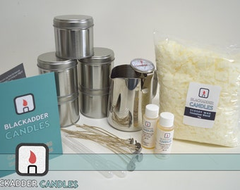 Beginners Candle Kit 100% Soy (Large Tins)