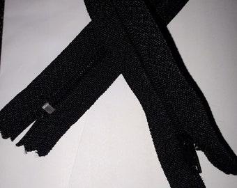 Zip up black 40 cm 400 mm