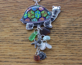 Colored Lucky Turtle Car Charm