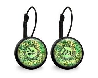 Free Spirit Leverback Earrings- Black