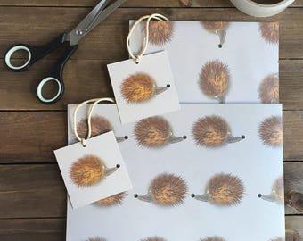 Hedgehog Gift Wrap