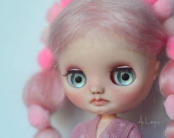OOAK Custom Middie Blythe Doll - Pink - By Art_emis