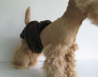 POOCHIE PANTZ chocolate brown female dog diaper, custom made, all sizes