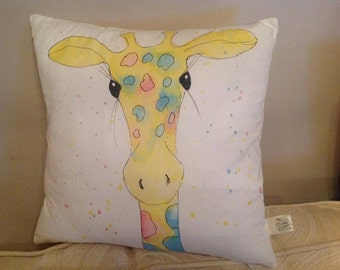 "SALE!!  Giraffe cushion cover 16"" with zip"