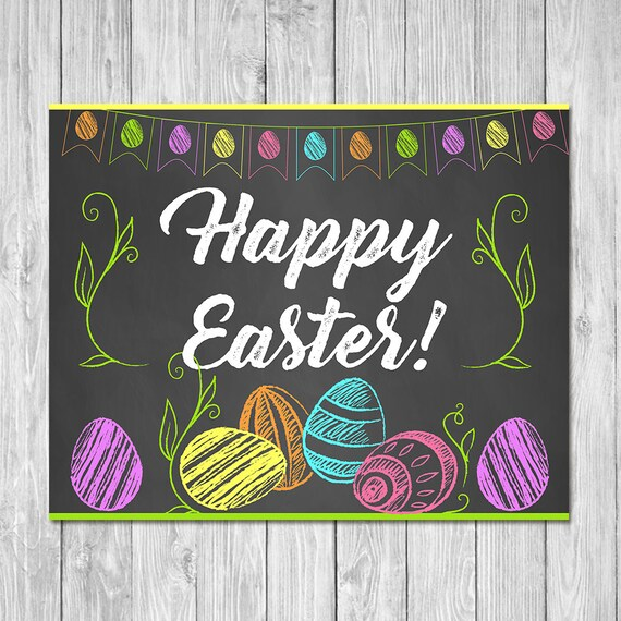 Costco Print Sizes >> Happy Easter Egg Sign Chalkboard Easter Egg Happy Easter