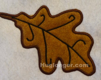 Applique Woodland Tree Leaf embroidery file