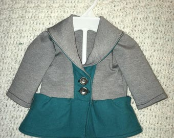 Gray and Teal baby jacket