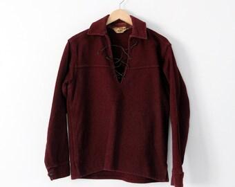1960s Woolrich pullover, men's wool shirt