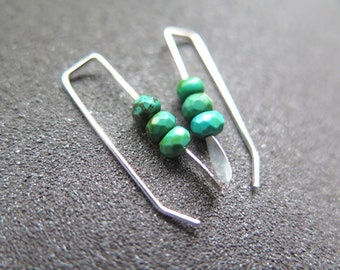 small turquoise earrings. December birthstone jewelry