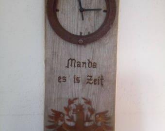 Altholzuhr Watch wood pine wall clock decoration gift