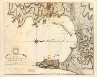 1783 Map of Gibraltar