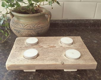 Reclaimed, wooden, Tealight, candle holder, home decor