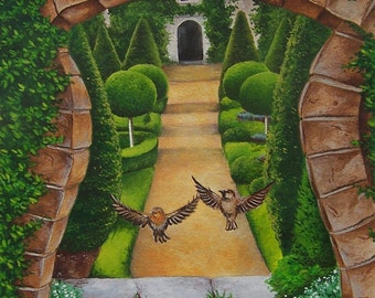 ORIGINAL PAINTING Enchanted Garden