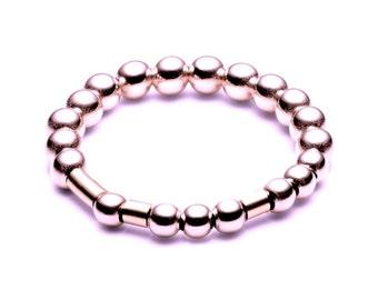 Ball closure rings / name ring • Morse code • Rosé gold