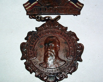 Antique Civil War Veterans G.A.R. Encampment Medal With Brooch ******1909***** Nice Condition