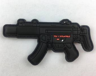 HK MP5 SD Rifle PVC Morale Patch
