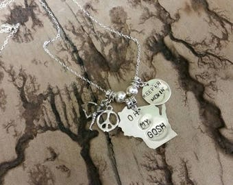 Manitowoc Minute Inspired Hand Stamped  Necklace