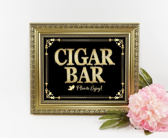 Roaring 20s Wedding Sign | 1920s Party Sign, Cigar Bar Sign, Cigar Sign, Black Gold Wedding Sign, Wedding Cigar Bar, 1920s decorations