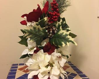 Floral Arrangement In A Heel/Shoe, Christmas Housewarming, Gift