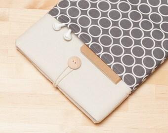 """15 inch Macbook pro retina sleeve, Macbook 15 case, 15"""" macbook pro retina cover, macbook 15 sleeve - circles"""