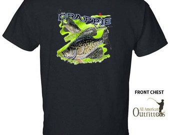 I'M A CRAPPIE FISHERMAN Fishing Crappy Fish Sportsman Sport T-Shirt