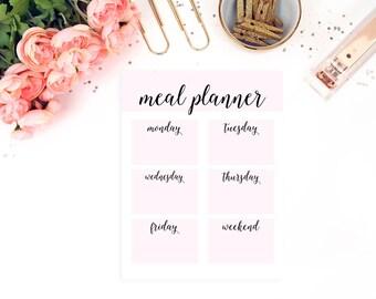 Meal Planner Printable, Weekly Meal Planner, Menu Planner, Menu Printable, 8.5 x 11 Planner, Menu Planning, A5 Planner Binder, Meal Planning